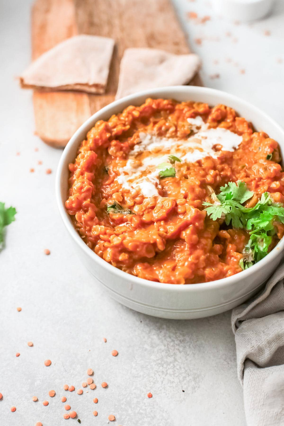 red lentil curry side