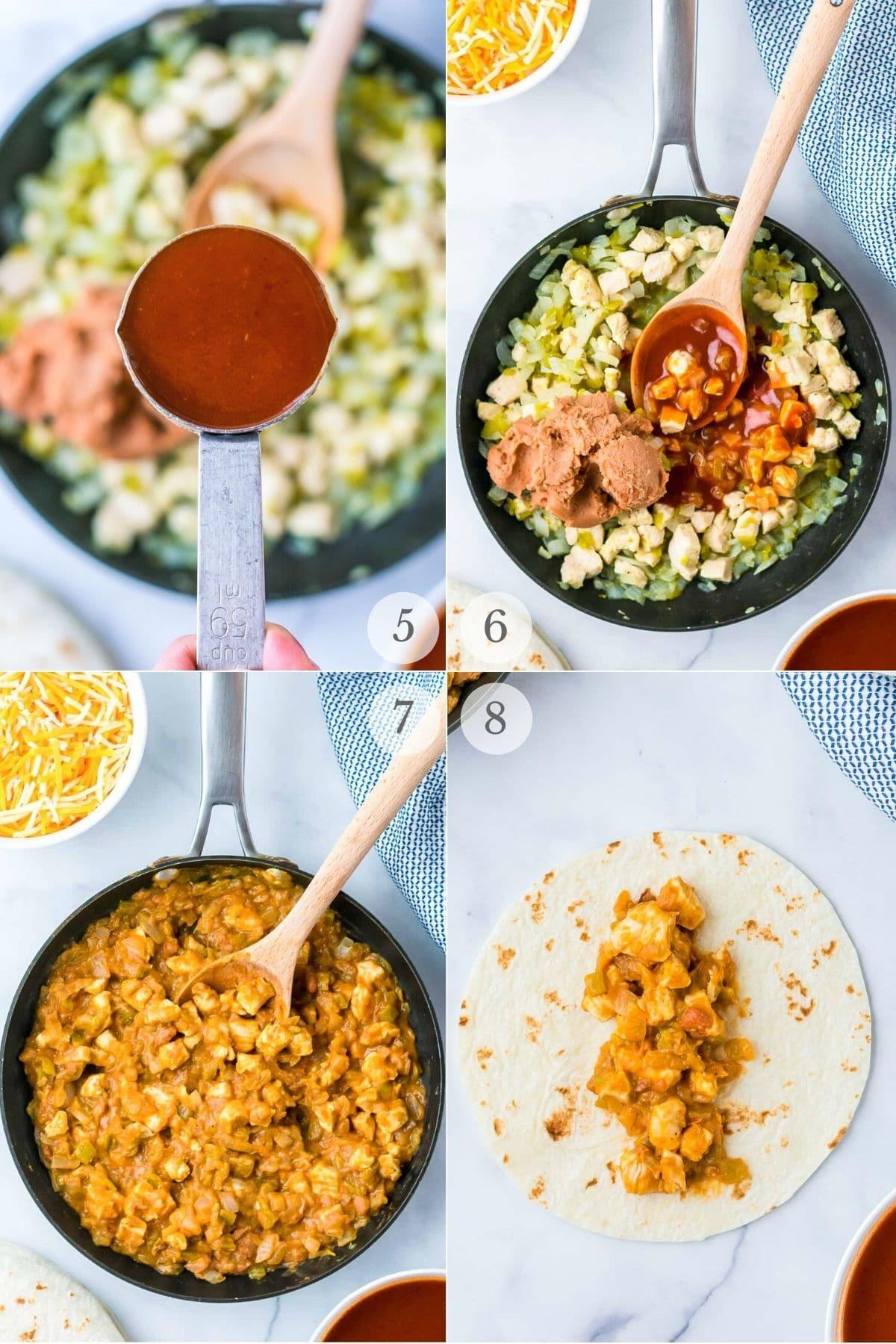 chicken enchiladas recipe steps 5-8