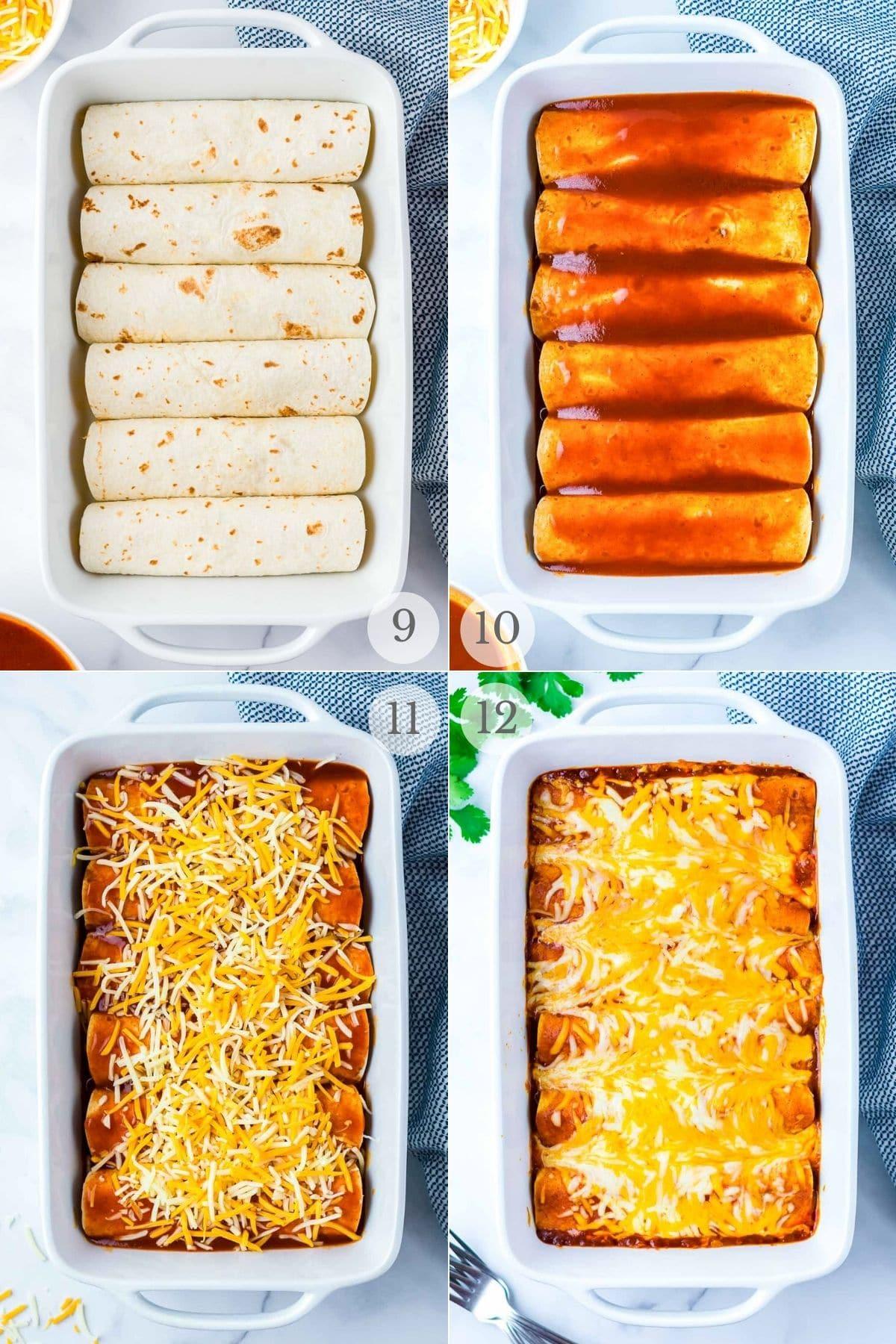 chicken enchiladas recipe steps 9-12