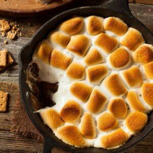 smores dip regular marshmallows square