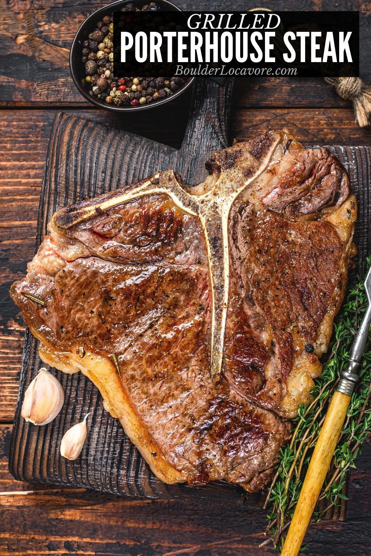 grilled porterhouse steak title