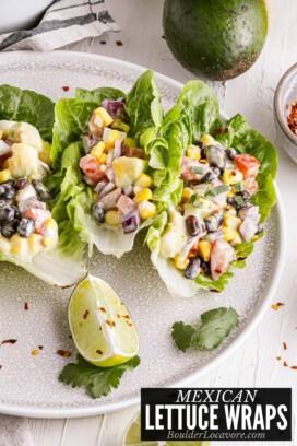 mexican lettuce wraps title image
