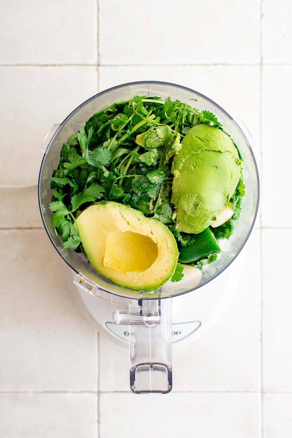cilantro lime dressing ingredients in food processor