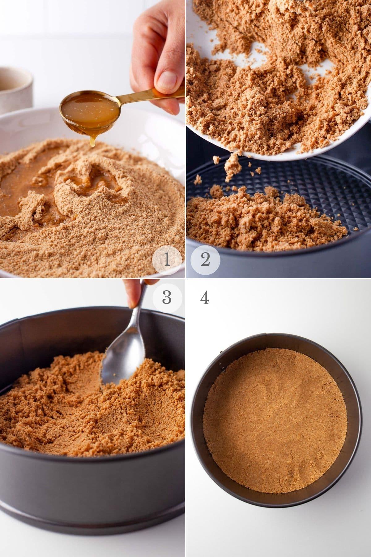 frozen key lime pie recipe steps 1-4 making the crust