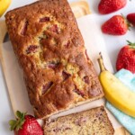 strawberry banana bread title image