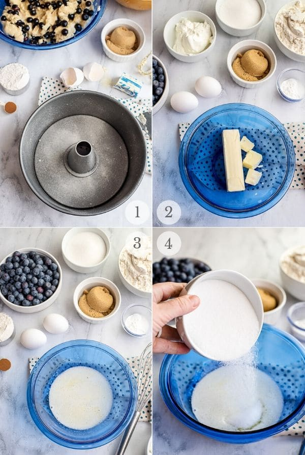Blueberry Coffee Cake recipe steps photos 1-4