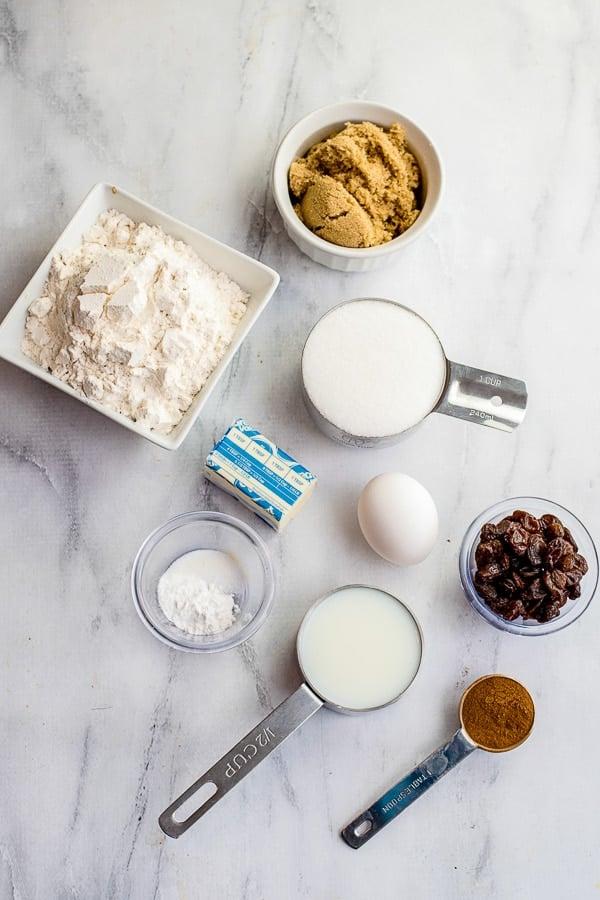 Cinnamon Raisin Bread ingredients