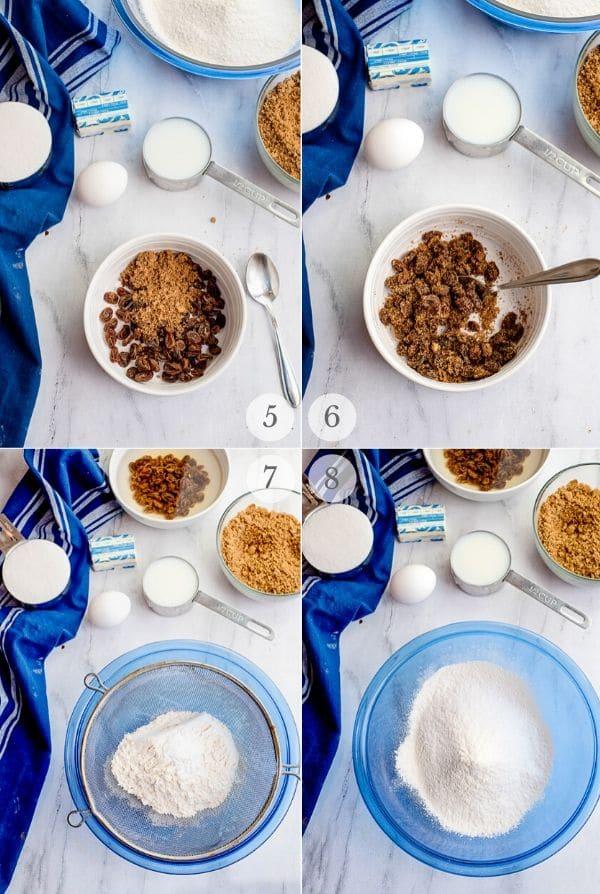 Cinnamon Raisin Bread recipe steps photos steps 5-8