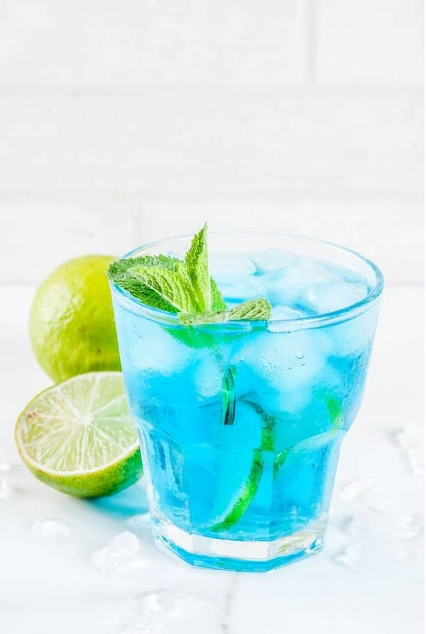 Blue Margarita in a short glass