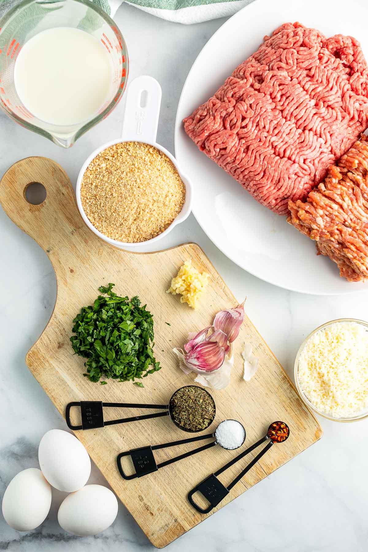 baked Italian Meatballs ingredients