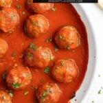 baked italian meatballs title