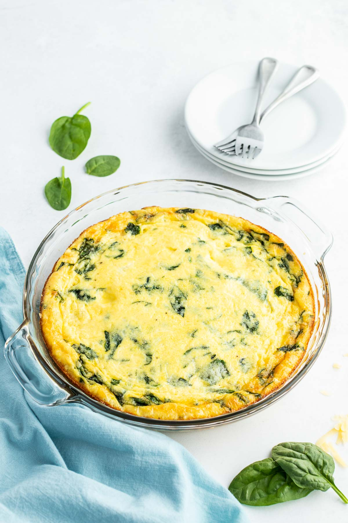 cooked ham and spinach crustless quiche