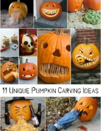 11 Unique Pumpkin Carving Ideas photo collage