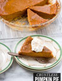 Crustless Pumpkin Pie title image