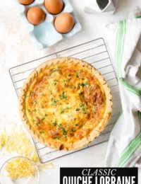 Quiche Lorraine: A Classic Cheesy Bacon Quiche